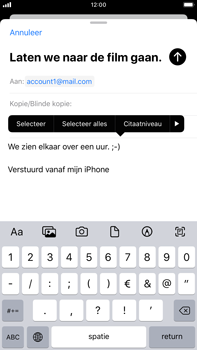 Apple iPhone 7 Plus - iOS 13 - E-mail - e-mail versturen - Stap 8