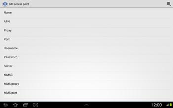 Samsung P5100 Galaxy Tab 2 10-1 - Internet - Manual configuration - Step 11