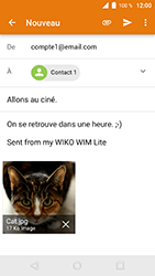 Wiko WIM Lite - E-mails - Envoyer un e-mail - Étape 14