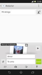 Sony Xperia Z - Mensajería - Escribir y enviar un mensaje multimedia - Paso 16