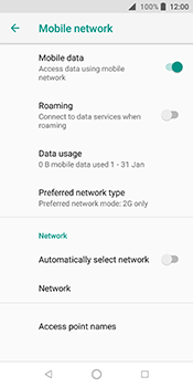 ZTE Blade V9 - Network - Change networkmode - Step 10