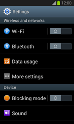 Samsung S7390 Galaxy Trend Lite - Internet - Disable mobile data - Step 4