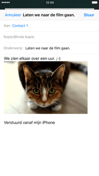 Apple iPhone 6s Plus iOS 10 - E-mail - hoe te versturen - Stap 14