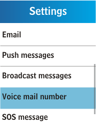 Samsung C3300K - Voicemail - Manual configuration - Step 5