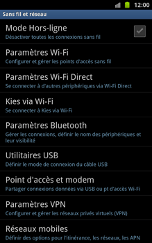 Samsung N7000 Galaxy Note - Wifi - configuration manuelle - Étape 4