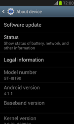 Samsung I8190 Galaxy S III Mini - Network - Installing software updates - Step 6