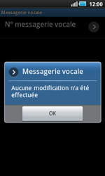 Samsung I5800 Galaxy Apollo - Messagerie vocale - configuration manuelle - Étape 9