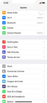 Apple iPhone XR - Rede móvel - Como ativar e desativar o modo avião no seu aparelho - Etapa 3