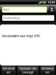 HTC A3333 Wildfire - E-mail - e-mail versturen - Stap 4
