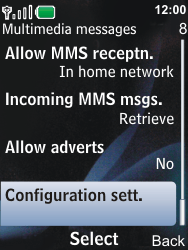 Nokia 6600i slide - MMS - Automatic configuration - Step 9