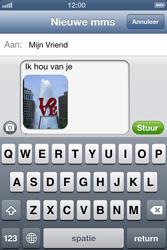 Apple iPhone 4 S met iOS 6 - MMS - afbeeldingen verzenden - Stap 11