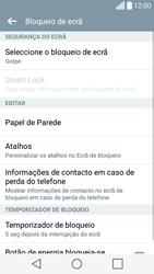 LG C70 / SPIRIT - Segurança - Como ativar o código de bloqueio do ecrã -  6
