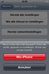 Apple iPhone 4 S - Toestel - Fabrieksinstellingen terugzetten - Stap 8
