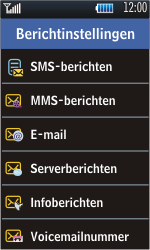 Samsung S5620 Monte - SMS - Handmatig instellen - Stap 5