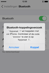Apple iPhone 4 iOS 7 - bluetooth - headset, carkit verbinding - stap 6