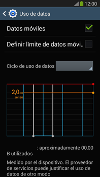 Samsung Galaxy Note 3 - Internet - Ver uso de datos - Paso 8