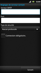 Sony ST25i Xperia U - E-mail - Configuration manuelle - Étape 14