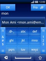 Sony Ericsson Xperia X10 Mini - E-mail - Envoi d