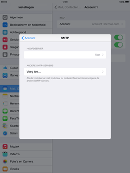 Apple iPad mini retina iOS 8 - E-mail - Account instellen (IMAP met SMTP-verificatie) - Stap 19