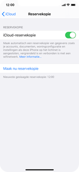 Apple iPhone X - iOS 13 - Data - maak een back-up met je account - Stap 12