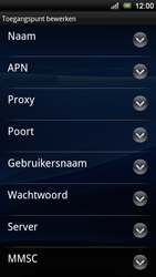 Sony Ericsson Xperia Ray - Internet - Handmatig instellen - Stap 9