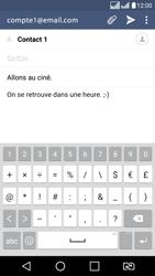 LG K8 - E-mail - envoyer un e-mail - Étape 9
