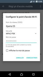 Sony Sony Xperia E5 - Internet et connexion - Partager votre connexion en Wi-Fi - Étape 10