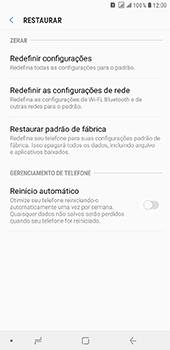 Samsung Galaxy J8 - Funções básicas - Como restaurar as configurações originais do seu aparelho - Etapa 6