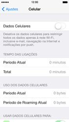Apple iPhone iOS 7 - Rede móvel - Como ativar e desativar uma rede de dados - Etapa 5