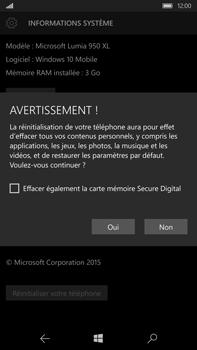 Microsoft Lumia 950 XL - Device maintenance - Retour aux réglages usine - Étape 8