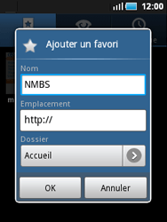 Samsung S5570 Galaxy Mini - Internet - Navigation sur Internet - Étape 9