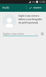 Samsung Galaxy Trend 2 Lite - Aplicações - Como configurar o WhatsApp -  9