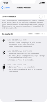 Apple iPhone XR - Wi-Fi - Como usar seu aparelho como um roteador de rede wi-fi - Etapa 4