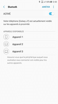 Samsung J730F Galaxy J7 (2017) (DualSIM) - Bluetooth - connexion Bluetooth - Étape 9