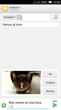 Alcatel Pop C9 - Mensajería - Escribir y enviar un mensaje multimedia - Paso 19