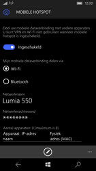 Microsoft Lumia 550 (Type RM-1127) - WiFi - Mobiele hotspot instellen - Stap 10