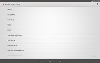 Sony Xperia Tablet Z2 (SGP521) - Internet - configuration manuelle - Étape 12