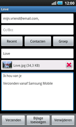 Samsung I5800 Galaxy Apollo - E-mail - e-mail versturen - Stap 10