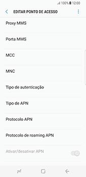 Samsung Galaxy S8 - Internet (APN) - Como configurar a internet do seu aparelho (APN Nextel) - Etapa 13