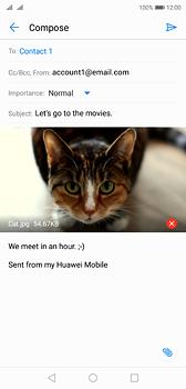 Huawei P20 - E-mail - Sending emails - Step 15