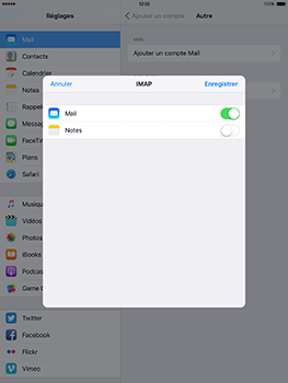 Apple iPad Mini 3 iOS 10 - E-mail - Configuration manuelle - Étape 16