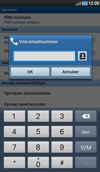 Samsung P1000 Galaxy Tab - Voicemail - Handmatig instellen - Stap 6