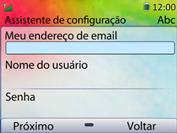 Huawei U6020 - Email - Como configurar seu celular para receber e enviar e-mails - Etapa 8