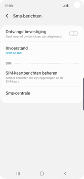 Samsung Galaxy S10e - Berichten - handmatig instellen - Stap 9