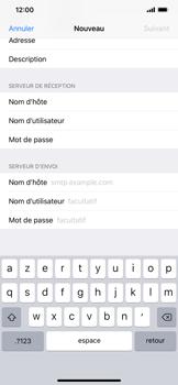 Apple iPhone XR - E-mail - Configuration manuelle - Étape 14