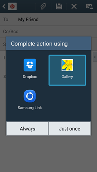 Samsung N9005 Galaxy Note III LTE - Email - Sending an email message - Step 13