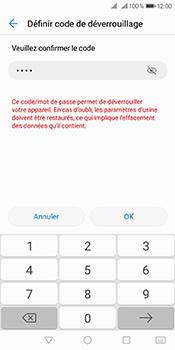 Huawei Y6 (2018) - Sécuriser votre mobile - Activer le code de verrouillage - Étape 10
