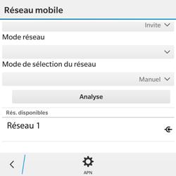 BlackBerry Classic - Réseau - Utilisation à l