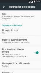 """Alcatel Pixi 4 (5"""") - Segurança - Como ativar o código de bloqueio do ecrã -  13"""