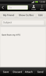 HTC T328e Desire X - E-mail - Sending emails - Step 7